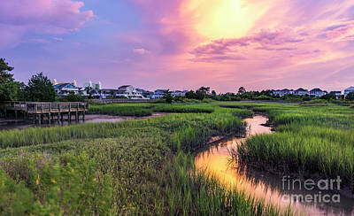 Photograph - Cherry Grove Channel Marsh Sunset by David Smith