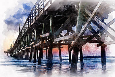 Digital Art - Cherry Grove Pier by David Smith