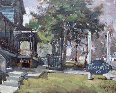 Ontario Painting - Cherry Hill Pub by Ylli Haruni