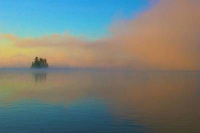 Photograph - Cherry Island In Misty Sunrise by Polly Castor