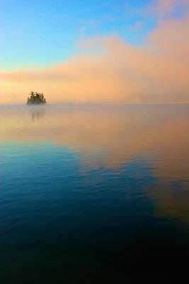 Photograph - Cherry Island In Sunrise Mist by Polly Castor