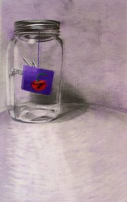 Drawing - Cherry by Liz Adkinson