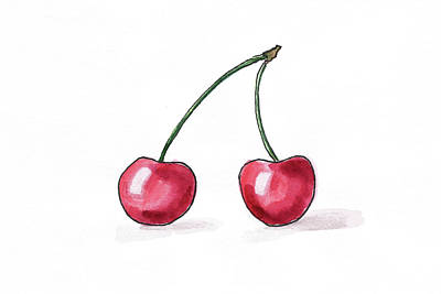Painting - Cherry by Masha Batkova