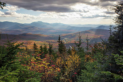 Photograph - Cherry Mountain Autumn Sunbeams by Chris Whiton