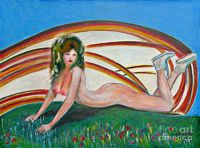 Painting - Cherry Nude 2 by Tom Conway