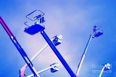 Cherry Picker Platforms Art Print by Inga Spence