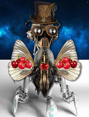 Steam Punk Mixed Media - Cherry Robot 5 Art by Marvin Blaine
