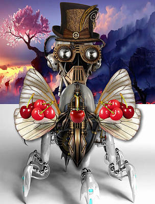 Mixed Media - Cherry Robot 6 Art by Marvin Blaine