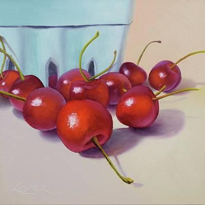 Retro Look Painting - Cherry Season by Gema Lopez