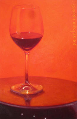 Glass Art Painting - Cherry Spice by Penelope Moore