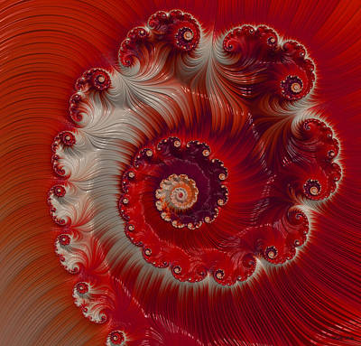 Cherry Swirl Print by Kathy Kelly