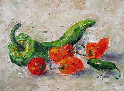Painting - Cherry Tomato And Chiles by Jill Musser
