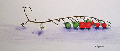 Painting - Cherry Tomatoe Vine by Elvira Ingram