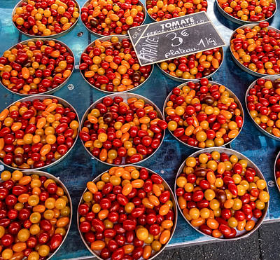 Cherry Tomatoes In Lyon Market Art Print