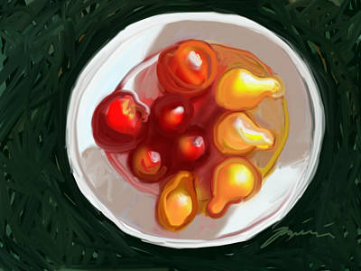 Painting - Cherry Tomatoes by Jean Pacheco Ravinski