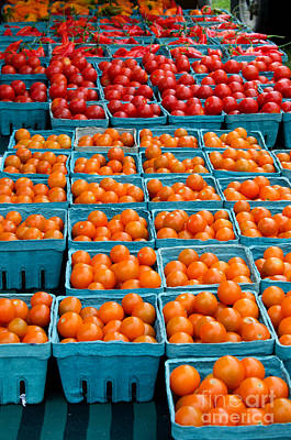 Farm Stand Photograph - Cherry Tomatoes by Jennifer Booher