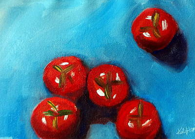 Painting - Cherry Tomatoes by Katy Hawk