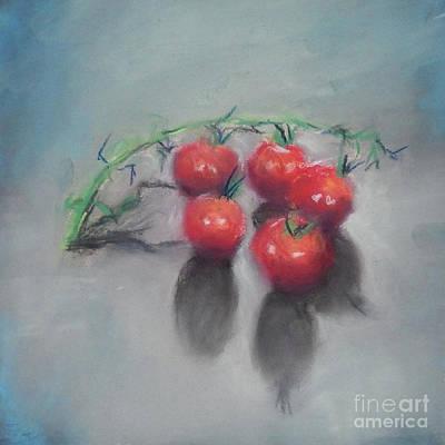 Painting - Cherry Tomatoes Pastel by Yoshiko Mishina