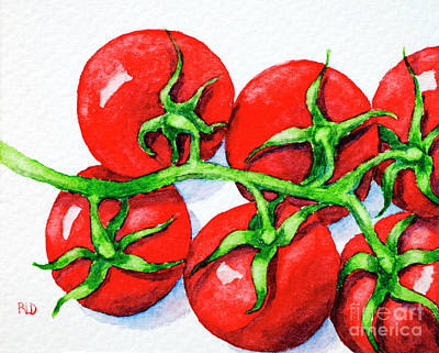 Painting - Cherry Tomatoes  by Rebecca Davis