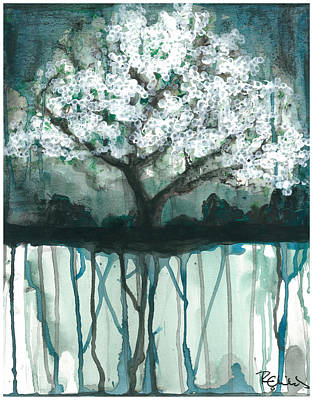Cherry Blossoms Painting - Fruit Tree #1 by Rebecca Childs
