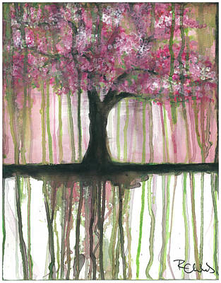 Cherry Blossoms Painting - Fruit Tree #3 by Rebecca Childs