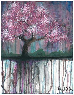Cherry Blossoms Painting - Fruit Tree #4 by Rebecca Childs