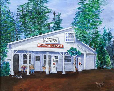 Cherryville Post Office Original by Lea Topliff