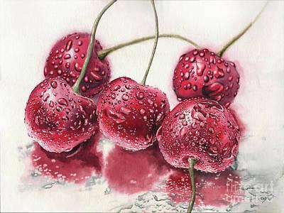 Hyperrealism Painting - Cherryz by Mikhail Starchenko