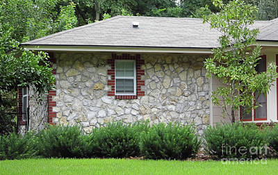 Photograph - Chert Home With Brick Detail by D Hackett