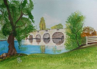 Painting - Chertsey Bridge by Carole Robins
