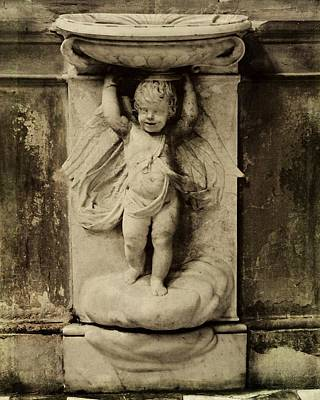 Photograph - Cherub Angel In Sepia by Patricia Strand