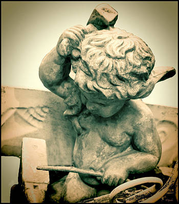 Photograph - Victorian Cherub Blacksmith by Tony Grider