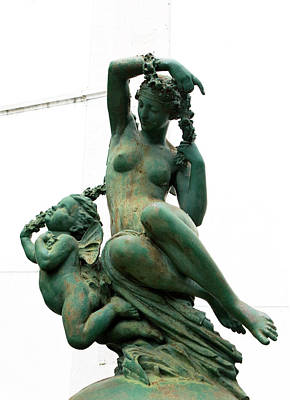 Photograph - Cherub In Green Copper by Lorraine Devon Wilke