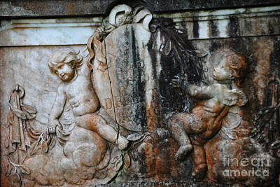 Photograph - Cherubs On Drayton Family Tomb by Jacqueline M Lewis