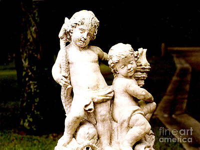 Photograph - Cherubs On The Patio by Merton Allen
