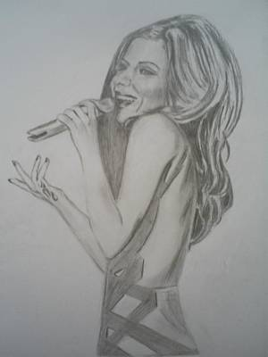 James Dolan Drawing - Cheryl Cole by James Dolan
