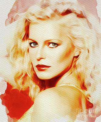 Painting Royalty Free Images - Cheryl Ladd, Actress Royalty-Free Image by Esoterica Art Agency