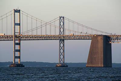 Bay Bridge Photograph - Chesapeake Bay Bridge - Maryland by Brendan Reals