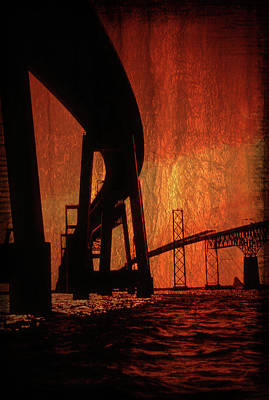 Chesapeake Bay Bridge Artistic Art Print
