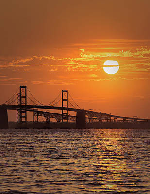 Photograph - Chesapeake Bay Bridge Sunset II by Richard Macquade