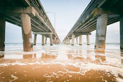 Photograph - Chesapeake Bay Bridge Tunnel by Lisa McStamp