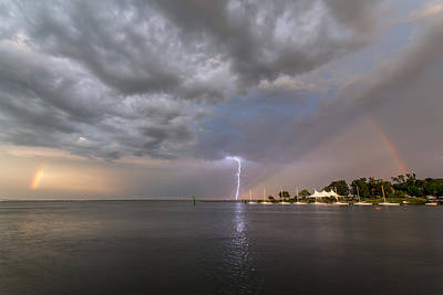 Photograph - Chesapeake Bay Rainbow Lighting by Jennifer Casey