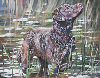 Chesapeake Bay Retriever Bird Dog Art Print by Lee Ann Shepard