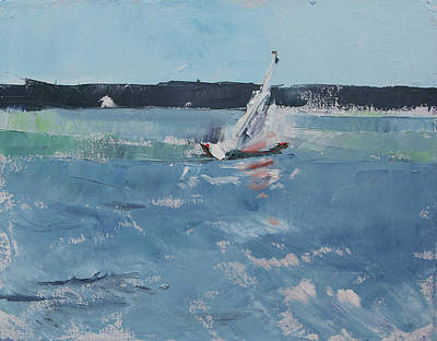 Painting - Chesapeake Bay Sailing by Susan Bradbury