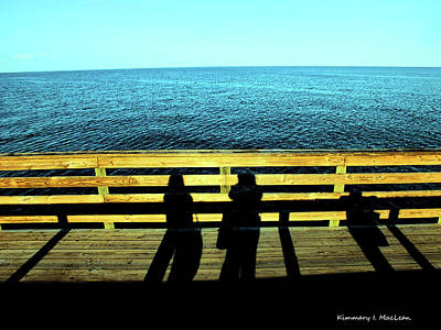 Photograph - Chesapeake Bay Silhouettes by Kimmary I MacLean