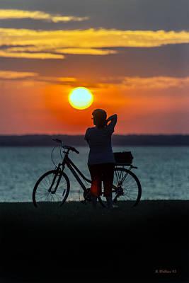 Luminous Globe Photograph - Chesapeake Bay Sunset by Brian Wallace