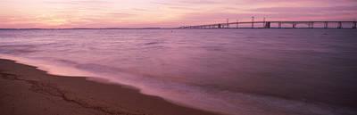 Chesapeake Bay Wchesapeake Bay Bridge Art Print by Panoramic Images