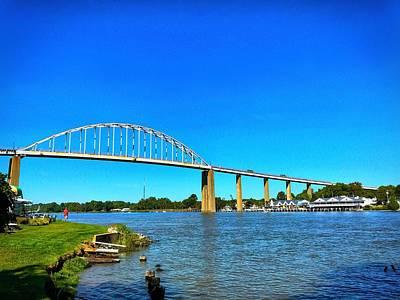 Photograph - Chesapeake City Bridge  by Chris Montcalmo