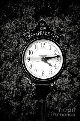 South Chesapeake City Photograph - Chesapeake City Clock by Olivier Le Queinec