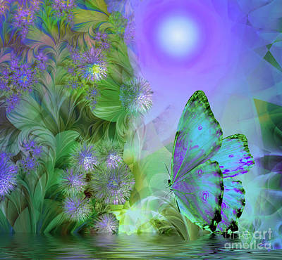 Fractal Painting - Chesapeake Moon by Mindy Sommers